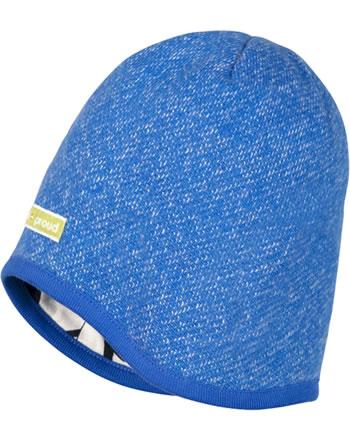 loud + proud Reversible knitted cap cobalt 7058-cob GOTS