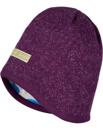 loud + proud Reversible knitted cap POLAR BEARS & ORCAS plum 7086-plu