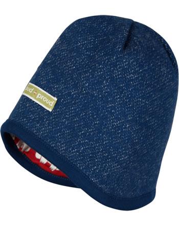 loud + proud Reversible knitted cap POLAR BEARS & ORCAS ultram. 7086-ul