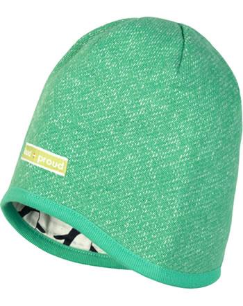 loud + proud Reversible knitted cap jade 7058-jad GOTS
