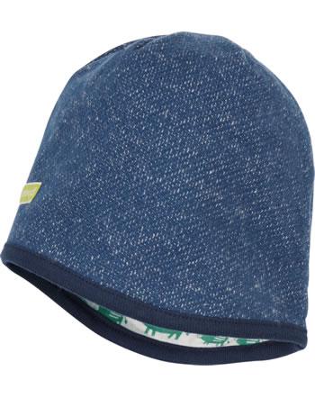 loud + proud Reversible knitted cap FOREST ANIMALS ultramarin 7111-ul GOTS