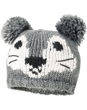 MaxiMo Knitted hat with pomponsFACE gray 43584-209500-0049