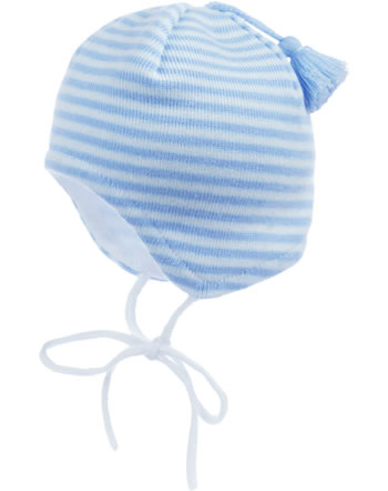 MaxiMo Knitted hat Baby with tassel white/light blue 55572-191200-0121