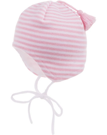 MaxiMo Knitted hat Baby with tassel white/light pink 55572-191200-0130