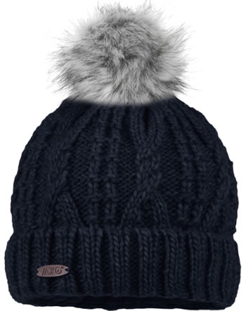 MaxiMo Knitted hat with pompom navy 63574-236676-0048