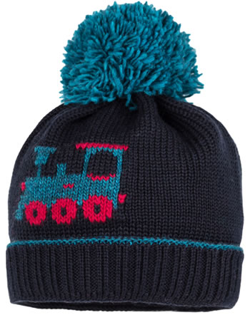 MaxiMo Knitted hat Mini LOCOMOTIVE dark marine 63575-232100-0011