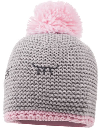 MaxiMo Knitted hat with pompom grey/rose 73573-810765-0530