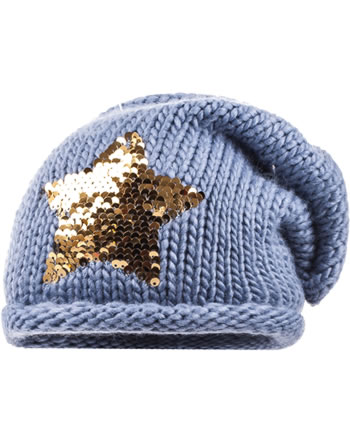 MaxiMo Hat Beanie SEQUINS Reversible STAR denim 73573-813500-0040