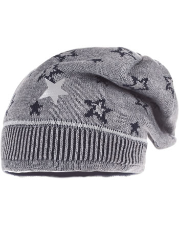 MaxiMo Hat Beanie w. fleece lining STARS medium grey 73578-201200-4911