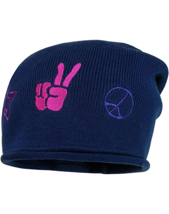 MaxiMo Hat Beanie w. fleece lining PEACE ink 73578-204100-0004