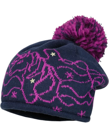 MaxiMo Kids Girl Hat Beanie navy/pink 83571-354600-4826