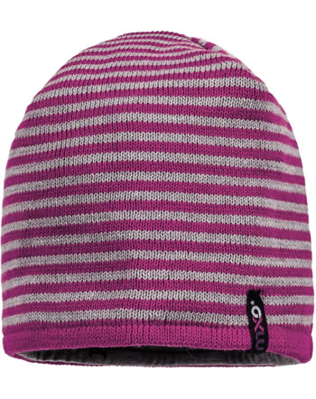 MaxiMo Kids Hat Beanie reversible dark pink/grey 83578-207700-4205