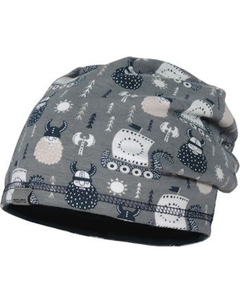 MaxiMo Hat Beanie reversible VIKING grey/white 93500-043600-6979