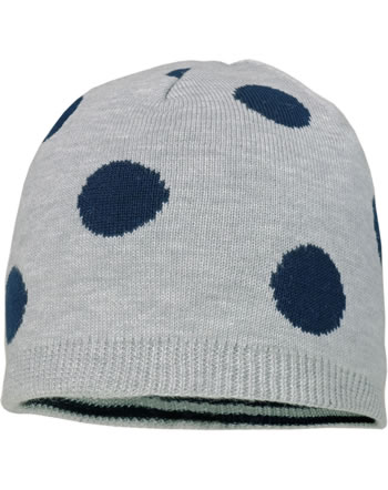MaxiMo Hat Beanie Kids Girl grey/marine 83573-864800-8811