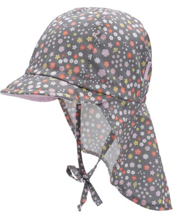 MaxiMo baseball cap with neck protection MINI girl floral pink 14500-087900-0016
