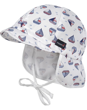 MaxiMo Cap with neck protection Mini SHIPS cerulean-white 04500-050200-70