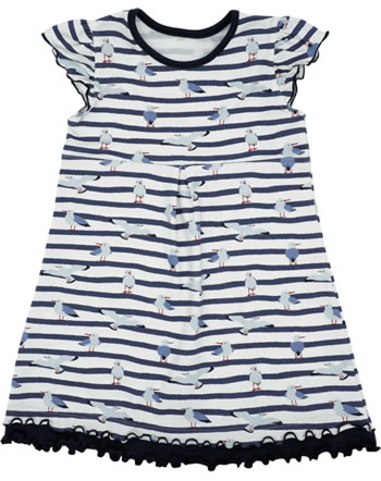 MaxiMo summer dress MINI marine / wool white seagulls 19000-131400-0058