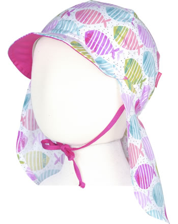 MaxiMo Cap with neck protection Mini Girl FISH pink-green 04500-057300-35