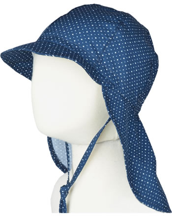 MaxiMo Cap with neck protection DOTS blue/white 84500-987800-10