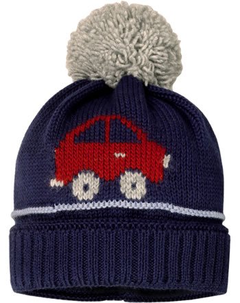 MaxiMo Knitted hat with pompom CAR blue/red/grey 53575-228800-0048