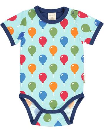 Maxomorra Bodysuit short sleeve BALLOON blue C3483-M470 GOTS
