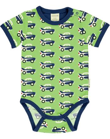 Maxomorra Body pour bébé manches courtes CAR vert C3474-M470 GOTS