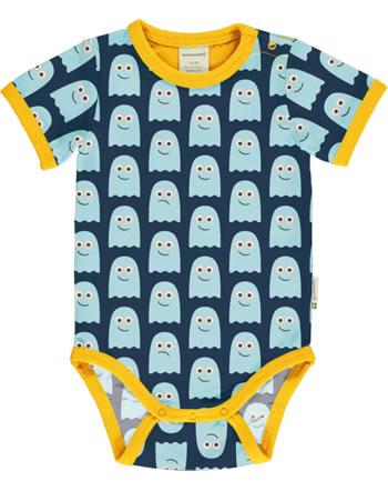 Maxomorra Baby-Body Kurzarm CLASSIC GHOST blau/orange C3499-M568