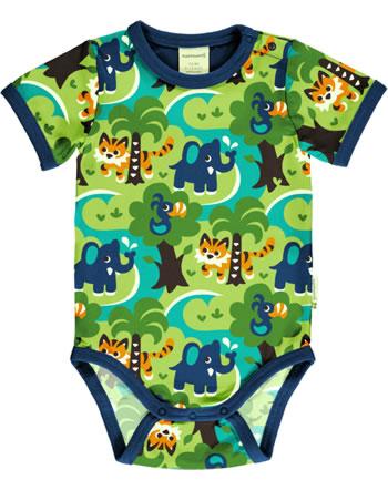 Maxomorra Bodysuit short sleeve JUNGLE green C3473-M470 GOTS