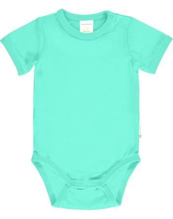 Maxomorra Bodysuit short sleeve SOLID AQUA blue C3516-M450 GOTS