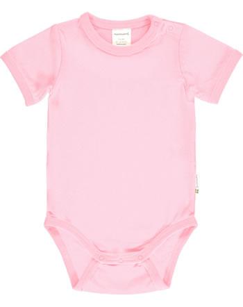 Maxomorra Bodysuit short sleeve SOLID BLOSSOM pink C3495-M450 GOTS