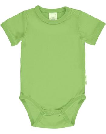 Maxomorra Bodysuit short sleeve SOLID PEAR green C3496-M450 GOTS