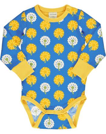 Maxomorra Body pour bébé manches longues DANDELION bleu/jaune C3477-M469 GOTS