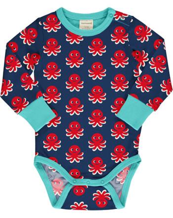 Maxomorra Body pour bébé manches longues OCTOPUS bleu / rouge C3476-M469 GOTS