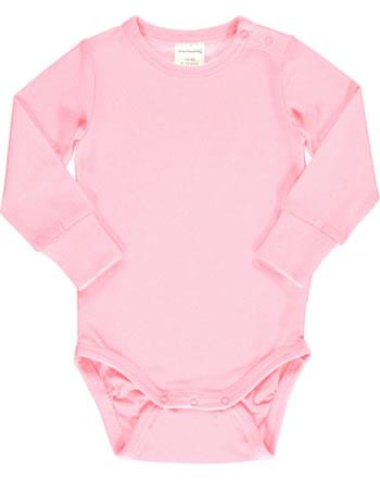 Maxomorra Baby-Body Langarm SOLID BLOSSOM rosa C3495-M449 GOTS