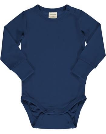 Maxomorra Bodysuit long sleeve SOLID NAVY blue C3494-M449 GOTS