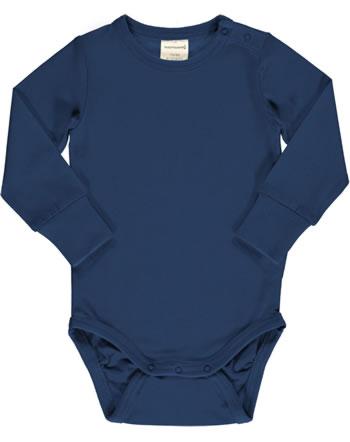 Maxomorra Baby-Body Langarm SOLID NAVY blau XAS2-39A GOTS