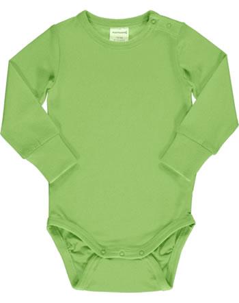 Maxomorra Bodysuit long sleeve SOLID PEAR green C3496-M449 GOTS