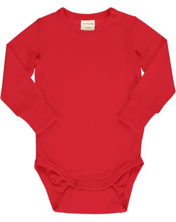 Maxomorra Baby-Body Langarm SOLID RUBY rot XAS1-39A GOTS