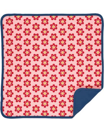 Maxomorra Baby Decke Krabbeldecke 70x70 ANEMONE rosa/blau C3430-M493 GOTS