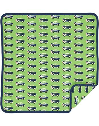 Maxomorra Baby Decke Krabbeldecke 70x70 CAR grün C3474-M493 GOTS