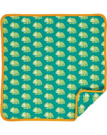 Maxomorra Baby Decke Krabbeldecke 70x70 CHAMELEON grün C3481-M493 GOTS