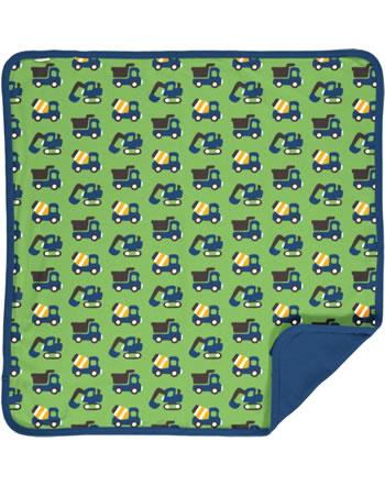 Maxomorra Blanket 70x70 CONSTRUCTION green C3411-M493 GOTS