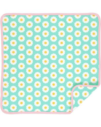 Maxomorra Blanket 70x70 DAISY blue C3490-M493 GOTS