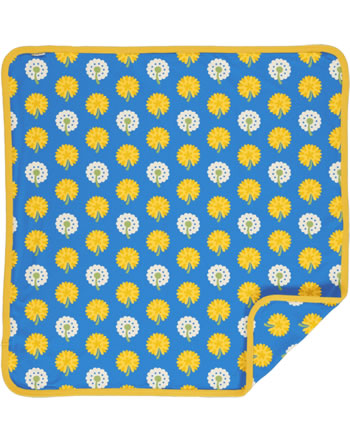 Maxomorra Baby Decke Krabbeldecke 70x70 DANDELION blau/gelb C3477-M493 GOTS