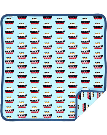 Maxomorra Blanket 70x70 FERRY blue C3486-M493 GOTS
