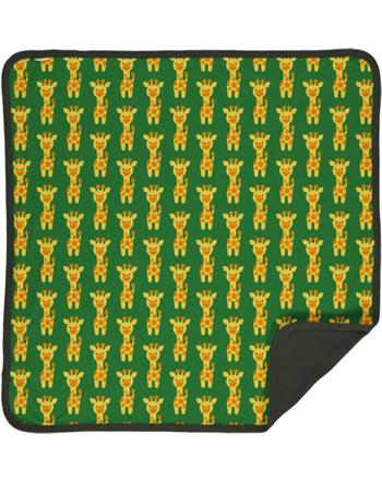 Maxomorra Blanket 70x70 GIRAFFE green C3424-M493 GOTS