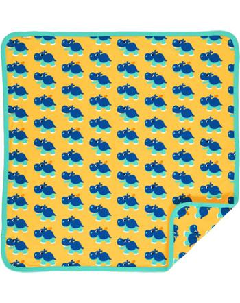 Maxomorra Baby Decke Krabbeldecke 70x70 HIPPO gelb C3488-M493 GOTS