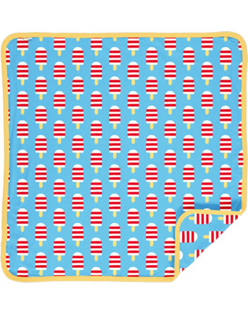 Maxomorra Blanket 70x70 ICE CREAM blue C3489-M493 GOTS