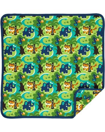 Maxomorra Baby Decke Krabbeldecke 70x70 JUNGLE grün C3473-M493 GOTS