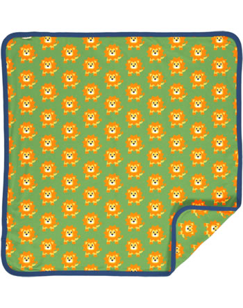 Maxomorra Blanket 70x70 LION green C3487-M493 GOTS